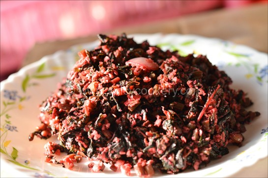 Kerala heera thoran / Red Spinach Stir Fry