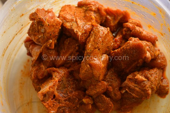 Kerala Mutton Curry -Marinated