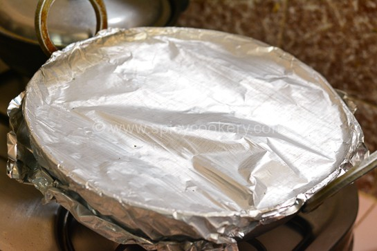 Dum paneer kalimirch covered with Foil paper