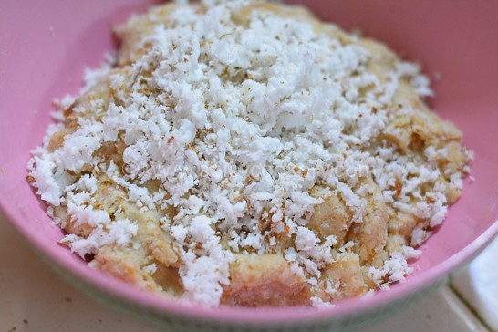 Add grated coconut & cardamom powder