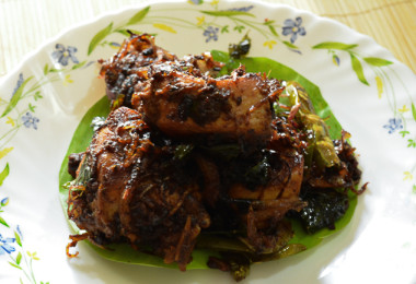 Andhra Spicy Chicken Fry - restaurant-style