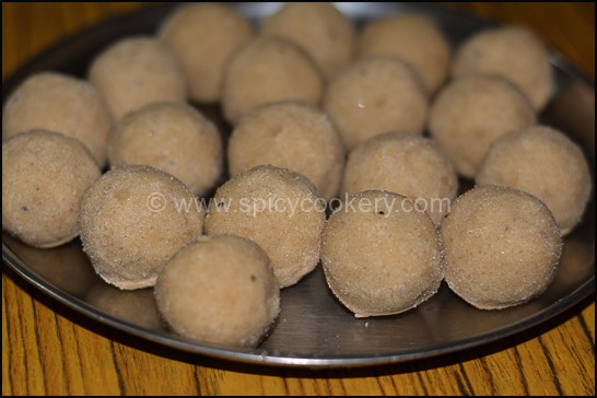 Home Made Wheat Flour Ladoo is Ready
